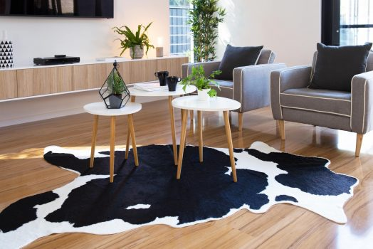 Give Your Room A Vintage Look By Placing Cowhide Rugs